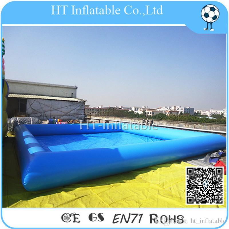 شحن مجاني مخصص 10x10m اللون / شعار / حمامات العلامة التجارية العملاقة طويل مستطيل PVC البلاستيكية سباحة رخيصة نفخ بركة سباحة