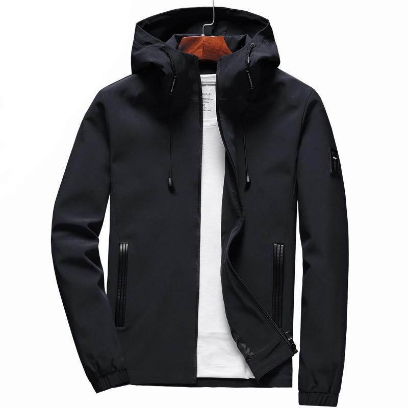con el regalo libre 2019 Hombres chaqueta con capucha para hombre ropa de caballero a prueba de viento chaquetas y abrigos ocasional al aire libre Escudo de Hip Hop de Calle 538 T200117