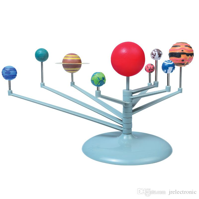 النظام الشمسي تسعة كواكب عدة علم الفلك اللوحة نموذج جديد تسعة كواكب النظام الشمسي القبة السماوية اللوحة نموذج كيت فنون العلوم لعبة للطاقة الشمسية