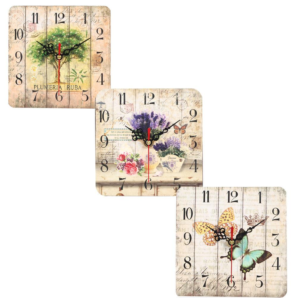 Digitale Wanduhr Platz MDF Dekoration Clock Mute Uhren 15cm Wood Hotel Stille Ferien Office Desktop