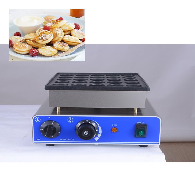 CE 110V / 220V ticari 25pcs onaylı Mini Gözleme Makinesi Poffertjes Grill Hollandalı Waffle makinesi l gözleme makinesi fırıncı
