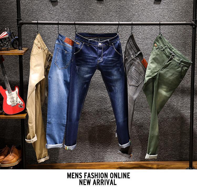 kot pantolon disel Skinny Jeans Erkekler Düz ince elastik kot Casual Biker Erkek Stretch Denim Pantolon Klasik Pantolon Mens kot pantolon