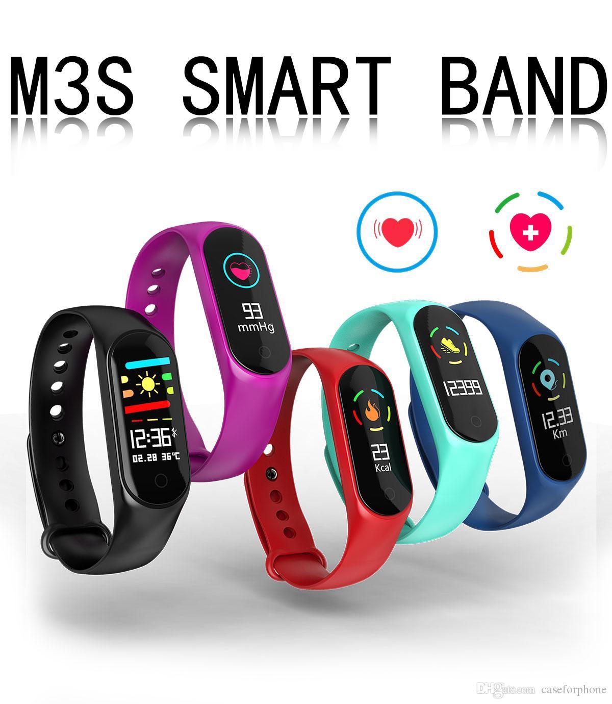M3S اللياقة سوار ضغط الدم القلب رصد معدل الفرقة الذكية تعقب عداد الخطى معصمه سوار الذكية smartwatch.