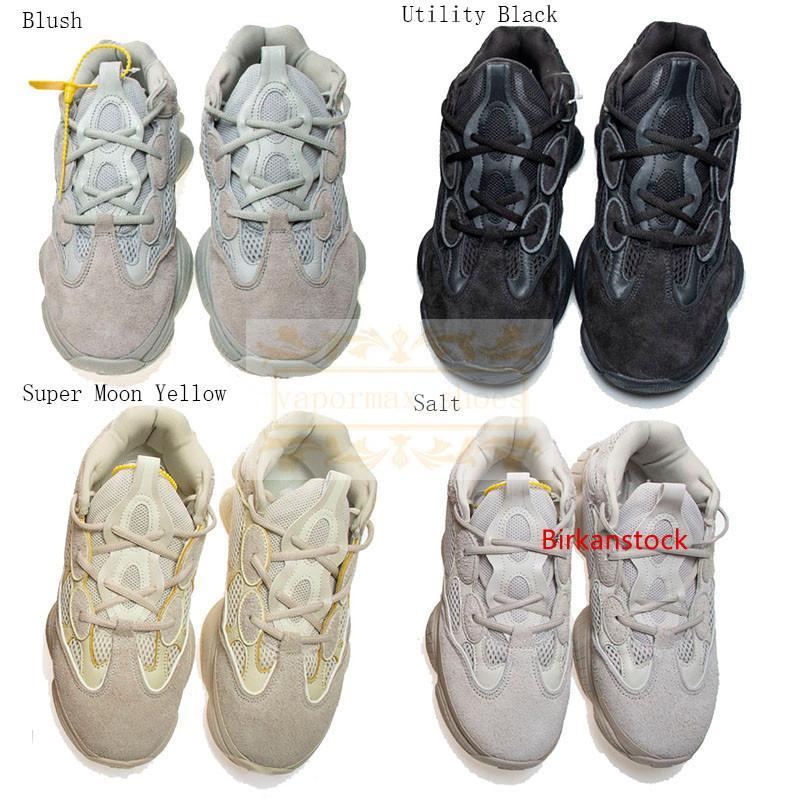 Kanye West Statik V2 500 Tasarımcı Plaj Dalga 3M Utility Siyah Allık Tuz Süper Ay Sarı Turuncu Erkekler Kadınlar Sneakers Ayakkabı