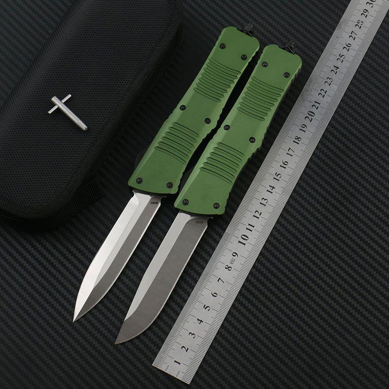 DF Army Green Coltello COMBAT Art Coltelli tattici D2 Lama 6061-T6 Aviation in lega di alluminio Maniglia EDC Strumento coltello equipaggiamento esterno