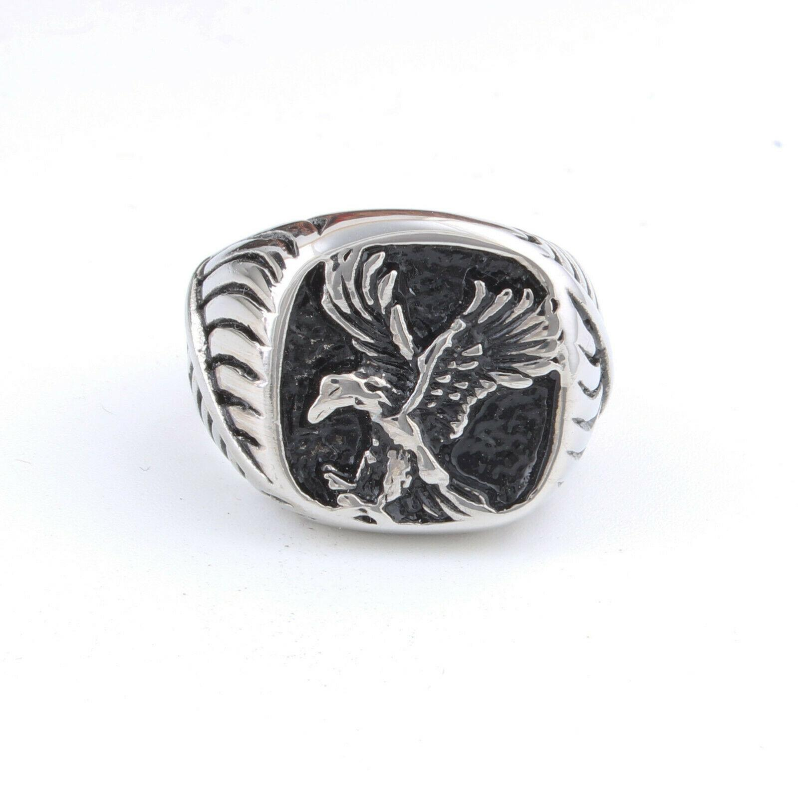 Moda maschio freddo punk in acciaio inox aquila Biker anello
