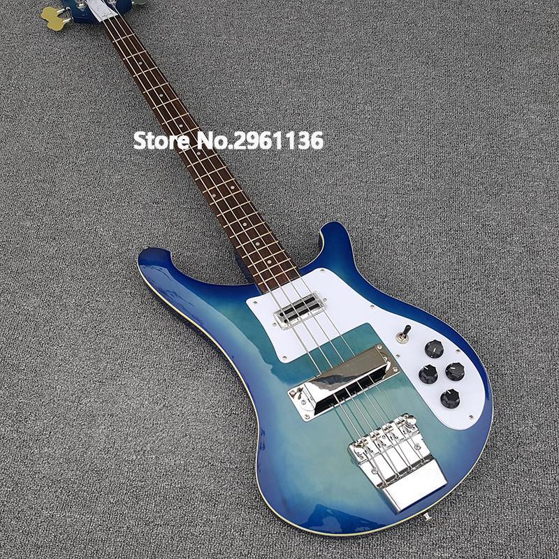 2019 Высокого качества электрическая гитара, Ricken 4003-4 струны бас-гитара, Черная краска, бесплатная доставка