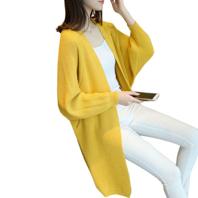 المرأة البلوزات 2021 أزياء طويلة بالأزرار النساء الخريف الشتاء الدافئة سترة الإناث محبوك لينة مريحة سحب فام