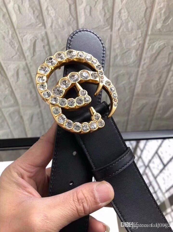 Nueva moda de lujo para hombre de negocios bien cinturón de hebilla patrón de tallado cobre puro de la correa de cuero de diseño para el hombreGucci y chastit femenina