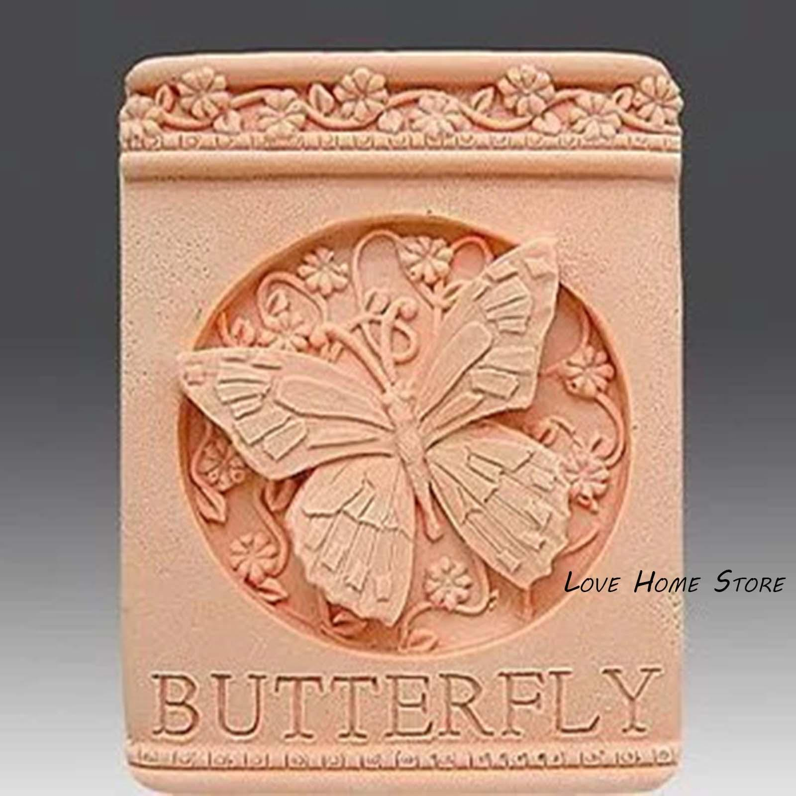 3D fai da te piazza torta farfalla zucchero muffa del cioccolato del biscotto del ghiaccio della gelatina del sapone di cottura della cucina della muffa strumenti di modellazione