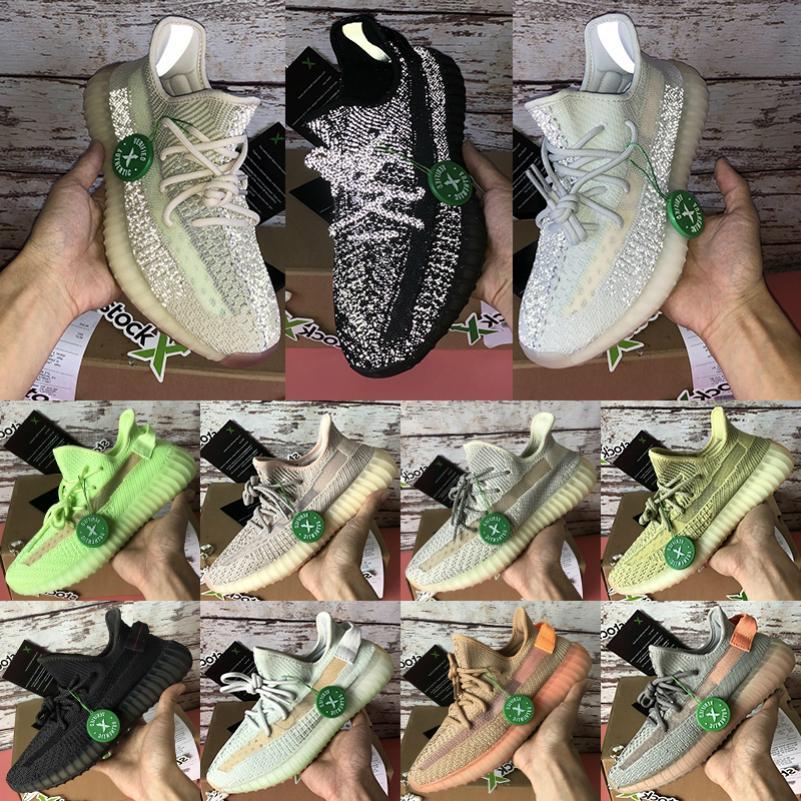 sapatos preto estática Citrin Nuvem branca reflexiva Kanye V1 Moonrock Turtle Dove V2 argila verdadeira forma Antlia Synth Lundmark sapatilhas 07