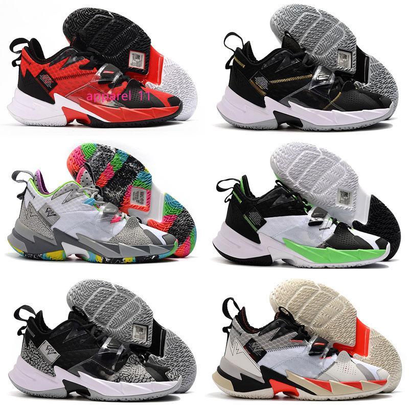 Russell Westbrook III Why Not Zero.3 Mens scarpe da basket per l'alta qualità arcobaleno nero del grano del leopardo Jumpman Sport Sneakers Taglia 7-12