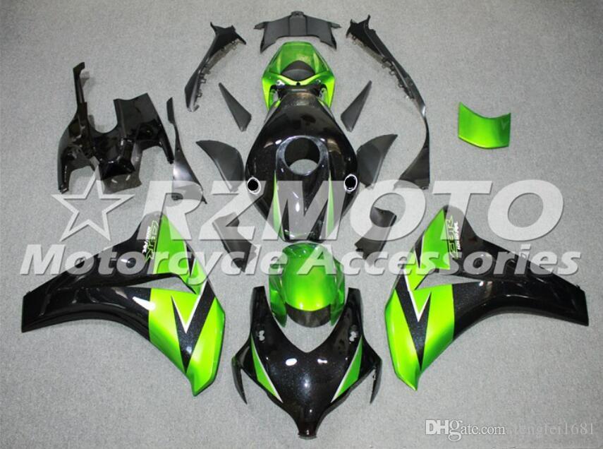 stampaggio ad iniezione del nuovo ABS carenature del motociclo Kit forma per HONDA CBR1000RR 2008 2009 2010 2011 1000RR 2008-2011 Carrozzeria impostato Nero Verde