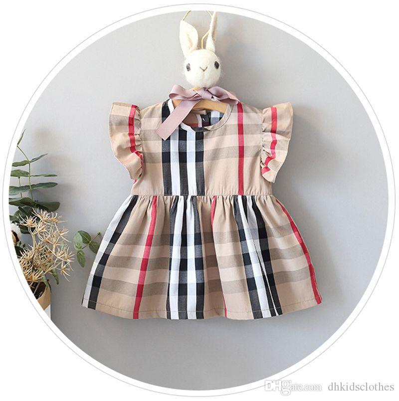 6-24months Nuovo Infante vestito Newborn bambino delle neonate del vestito di estate casuale principessa partito Tutu Solid Dressss