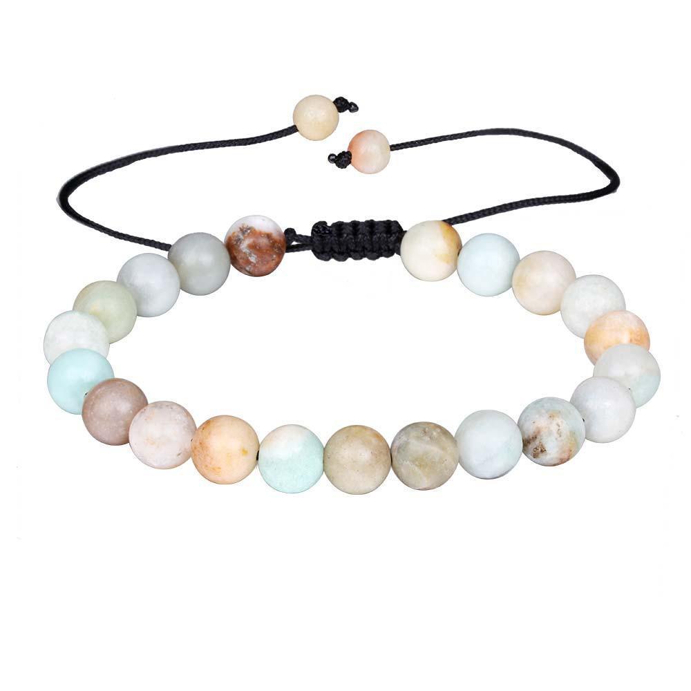 Nuovo arrivo 8 millimetri di cristallo agata pietra naturale tessuta borda il braccialetto per gli uomini le donne di misura adattabile a mano corda intrecciata colorato regalo del braccialetto