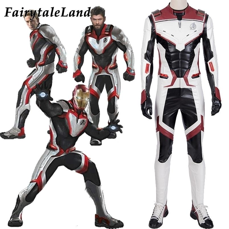 2020 Avengers Endgame Cosplay Costume Jumpsuit Avengers Team Uniform Iron Man Black Widow White Suit Quantum Space Time Travel Suitsmx190921 From Pu05 59 52 Dhgate Com