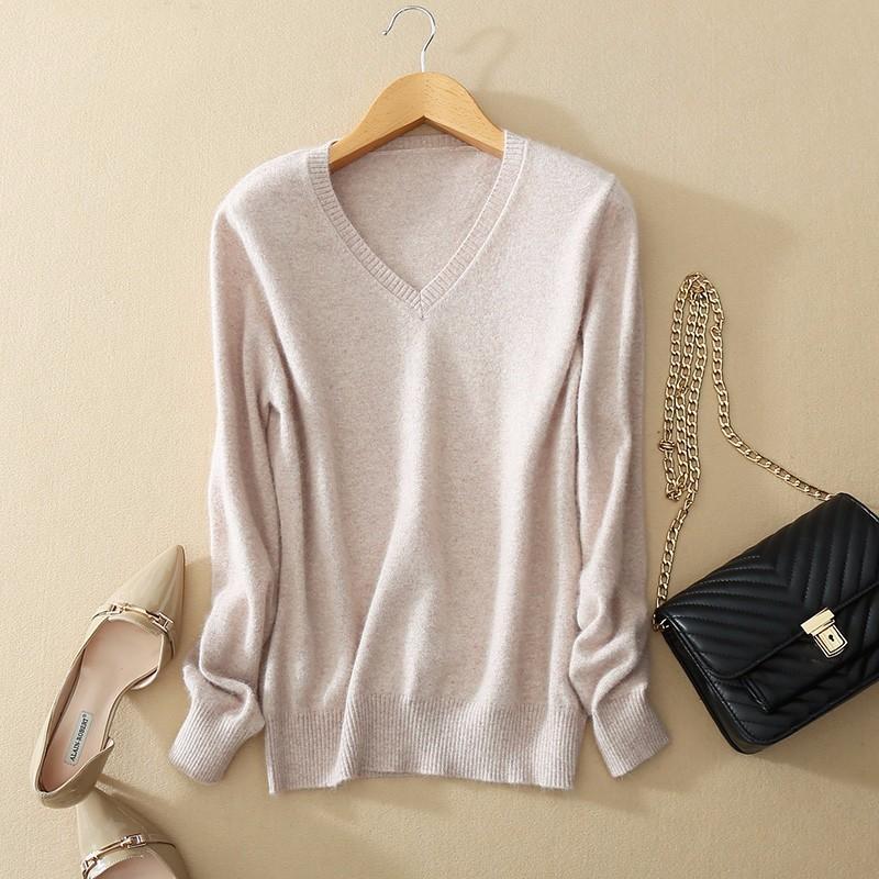 cashmere sweater de inverno mulheres suéteres e pulôveres feminino V-neck malha puxar femme manche longue camisola