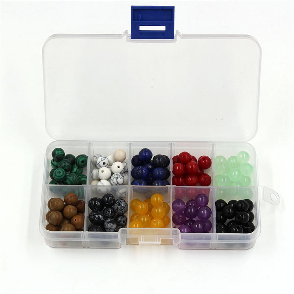 pierre naturelle d'énergie de 10 types d'accessoires usine perles en vrac turquoise une prise malachite, agate perles noires