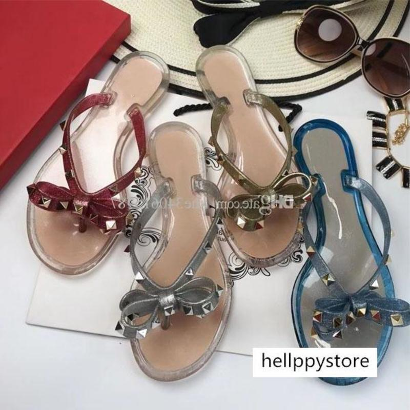 2018 donne rivetto sandali donna gelatina scarpe da spiaggia appartamenti sapatos femininos zapatos mujer chaussure femme sapato Feminino sandalias