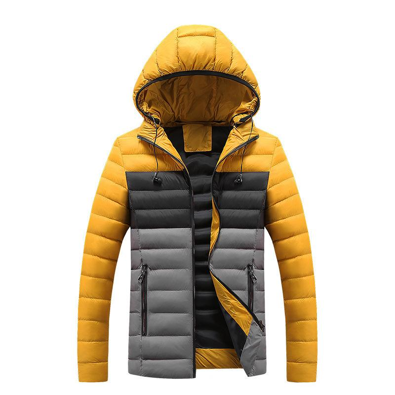 TANG Man Coats 2019 Erkekler Kış Ceket Isınma Streetwear Kalın Parkas Casual Erkek Patchwork ceketler Pamuk Dış Giyim Plus Size 3XL