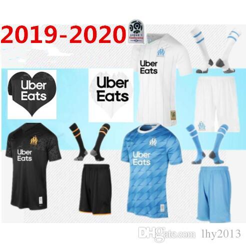 2019 2020 Olympique de Marseille PAYET adult soccer jersey full kit 19 20 OM Marseille PAYET L.GUSTAVO THAUVIN MEN soccer jersey KIT+Socks