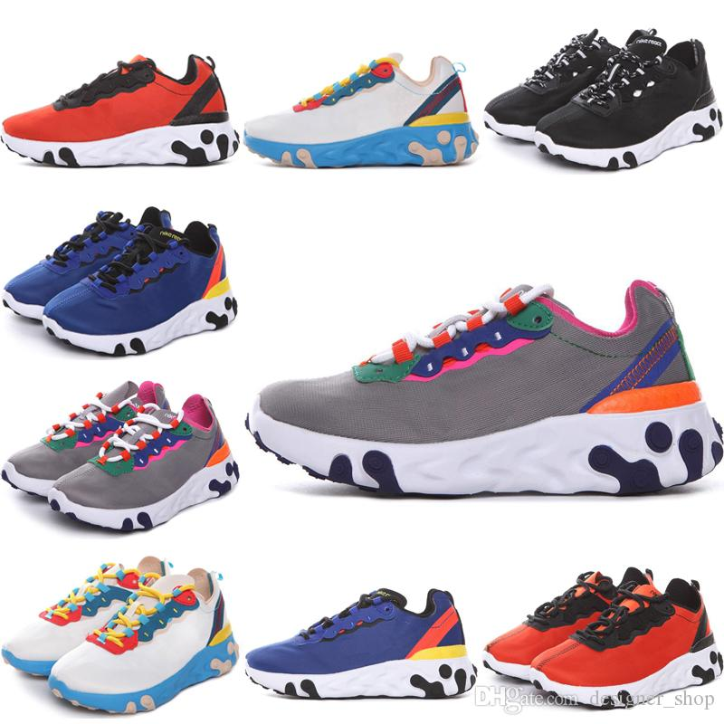 Nike Epic React Element 87 Undercover React Element Infant Kids Laufschuhe NEPTUNE GREENS Undercover Blau Jungen Mädchen Trainer Kinder Designer Sport Sneakers 28-35