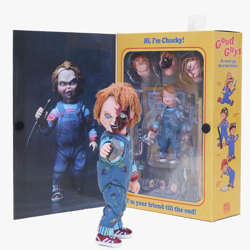 15-25cm Neca Toys Child's Play Horror Ultimate Good Guys Chucky Bride Of Chucky Pvc Action Figure Collectible Model Doll Toy Y190604