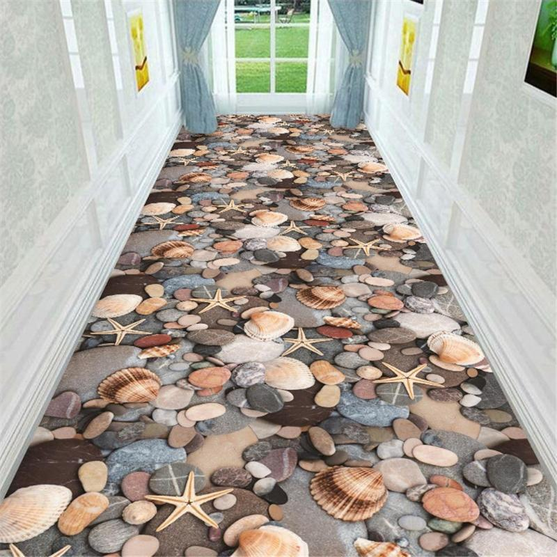 3D коридор сумочка морская звезда кухня балкона дверной циновку напольный пол ванная комната каменные тумбочки тумбочка