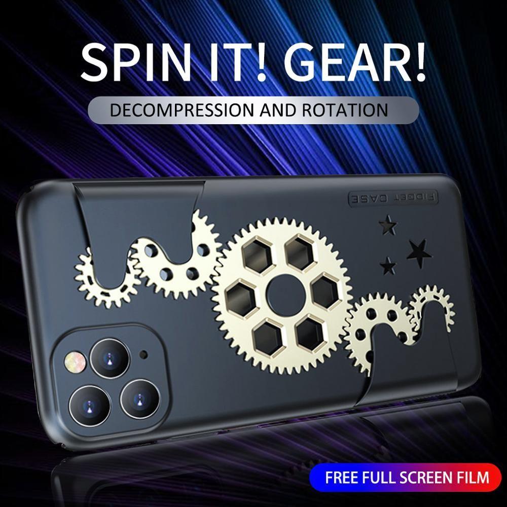 İyi Mekanik Döner Dişli Telefon Kılıfı iPhone 11 Pro MAX 11Pro 11ProMAX Dekompresyon Sert Kılıflar Kapak iPhone X XR XS XSMAX