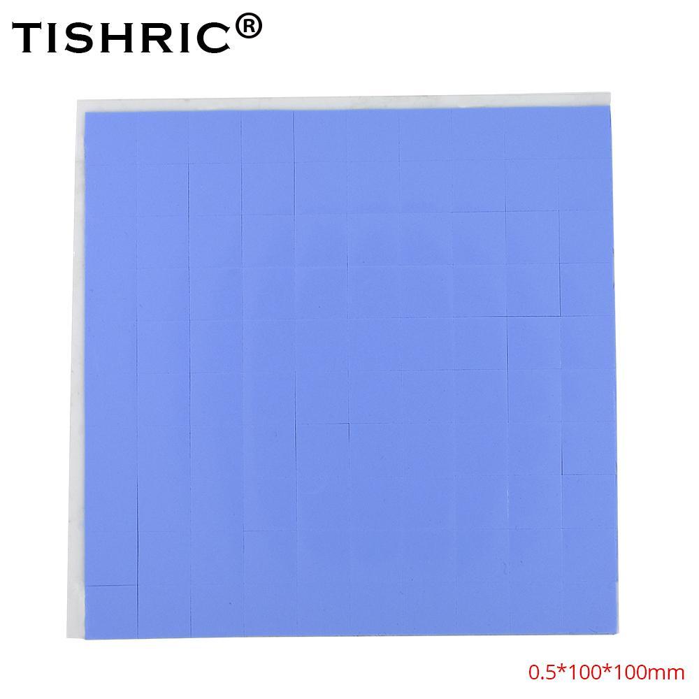 같습 사무실 TISHRIC는 100 * 100 * 0.5mm의 전도성 실리콘 GPU CPU 열 패드는 히트 싱크 히트 싱크 그리스는 접착제 PC 팬 쿠 붙여 넣기 0.5mm의 ...