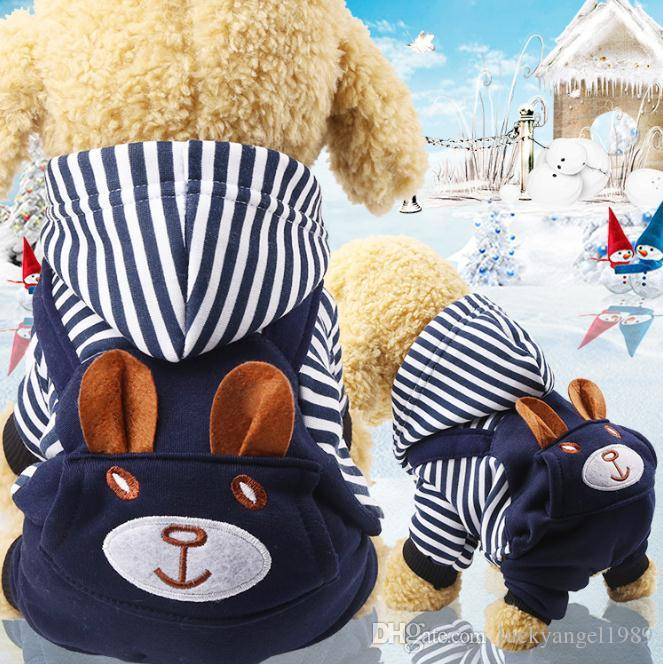 Cheap Four feet garment flannel small medium-sized dog outfit dog clothes thick clothes cat pet clothing outwear cat pet dog coat puppy coat