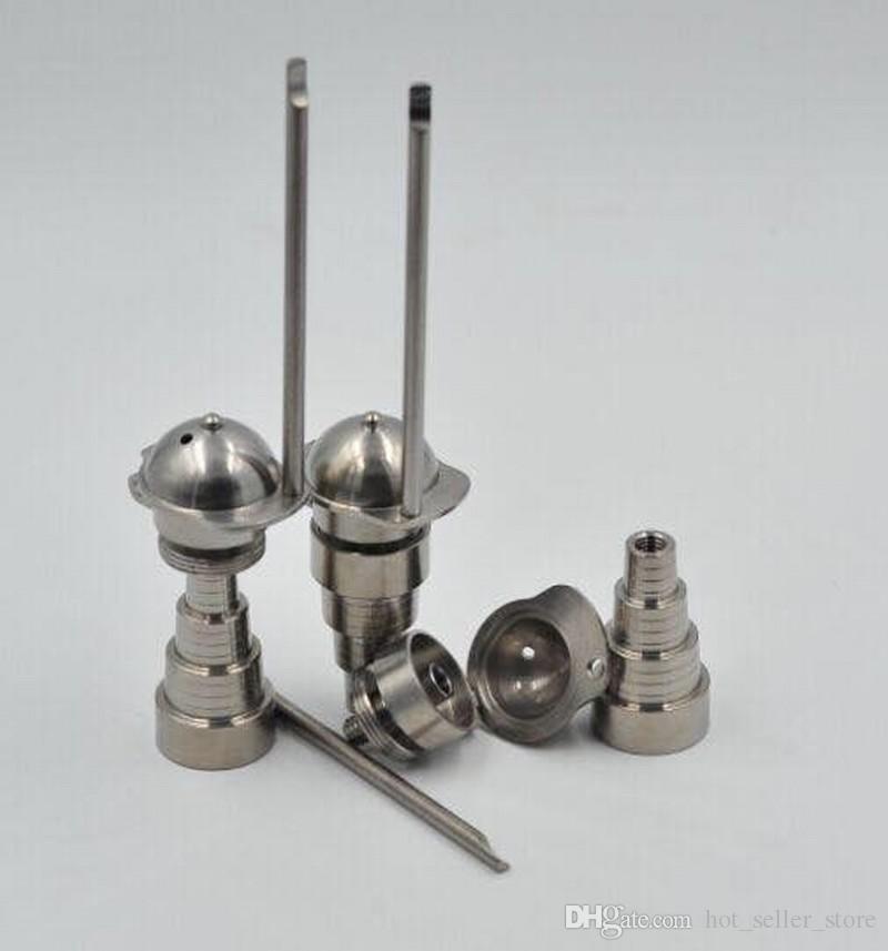 6 в 1 универсальный титановым гвоздем мужской женский бом 10мм 14мм 18мм курить инструмент принадлежнос Dabber с боковой бейсбол карбюратор Cap