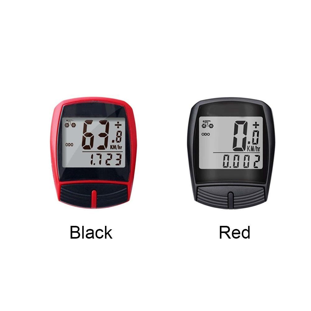Chiaro display LCD multifunzione Contachilometri retroilluminazione Magnet bicicletta tachimetro cycling computer cronometro Wired sensore impermeabile Bike Comput