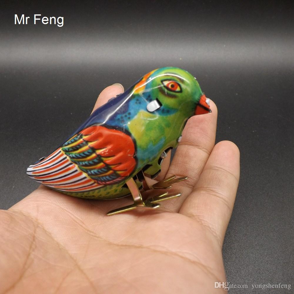 Cadeau vintage d'enfants de jouet mécanique de pic-teck d'oiseau de remontée mécanique pour des enfants (numéro de type I018)