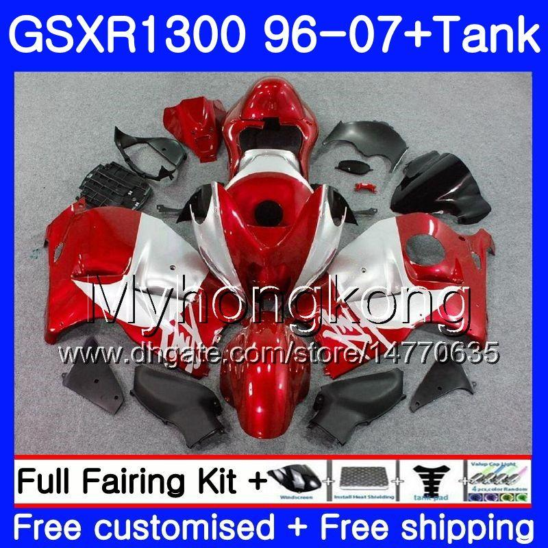 SUZUKI GSX İçin Vücut R1300 GSXR1300 96 02 03 04 05 06 07 Kırmızı simli 333HM.69 GSXR 1300 Hayabusa 1996 2002 2003 2004 2005 2006 2007 Fairing