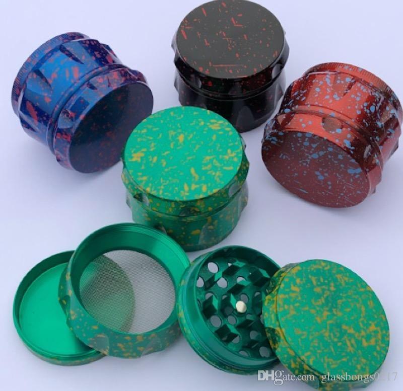 New Tambor sharpstone Grinder Contraste Cor Grinders 4 Peças Grinder Cor Herb Crusher 40 milímetros liga de zinco metal moedor 5 cores de alta qualidade