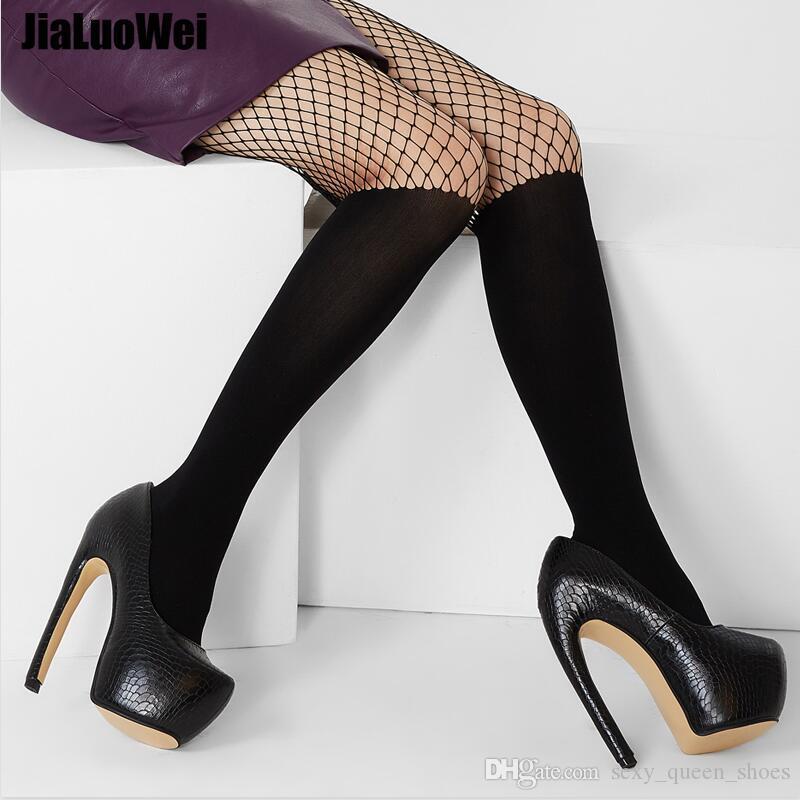 Kadınlar Platformu 18cm Aşırı Yüksek Topuk Seksi Garip Stil Eğrisi Viraj Topuklar Slip-On Yılan Desen Ayakkabı Büyük Boy Adam Pole Dance For pompaları