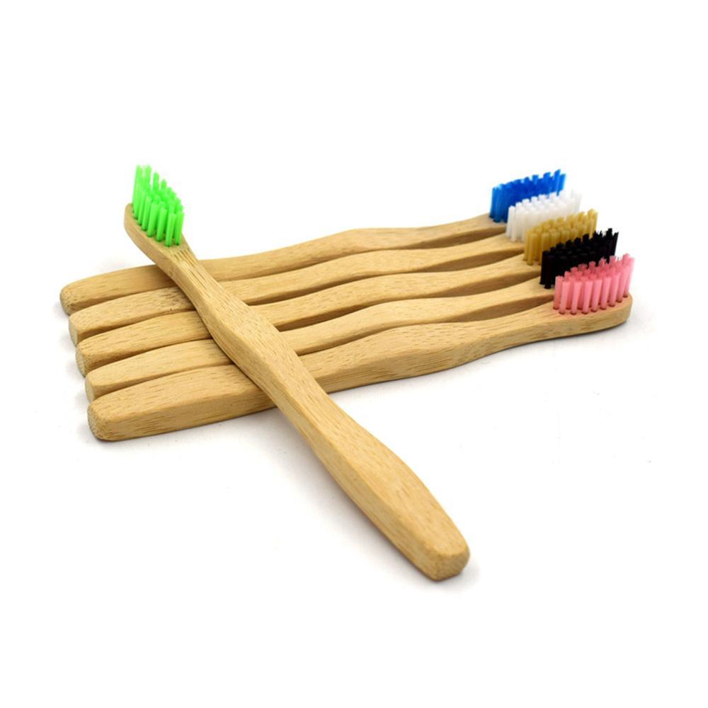 Enfants Brosse à dents à poils doux dents en bois Brosse écologique en bambou Brosse à dents