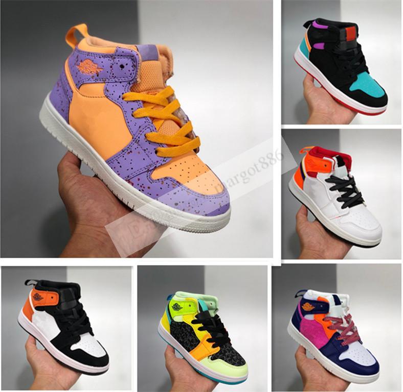 Meninos crianças 1s basquete juventude crianças meninas sapatos atletismo sapatilhas corrida sapato para treinadores de esportes meninos meninas sneaker tamanho 27-35