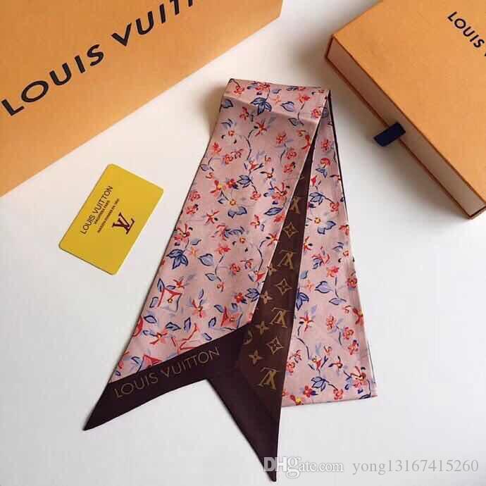 Hot-selling de moda fita de seda dupla pequena tendência lenço elegante cachecol faixa de cabelo elegante 9 * 120 centímetros, nenhuma caixa