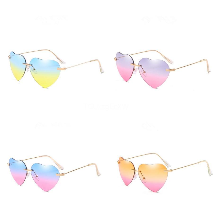 Atacado- Mooistar # 3002 Mulheres Homens Espelho Óculos vintage Moda Unissex Lens Heart-Shaped Sunglasee Goggles # 49664