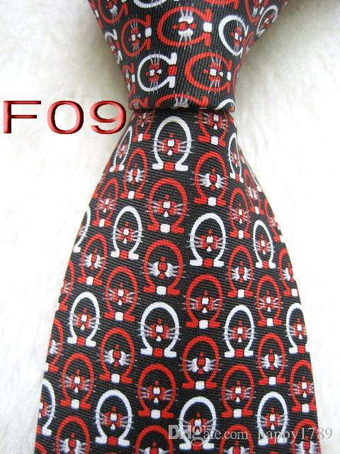 Corbata de corbata F09 # 100% seda hecha a mano con tejido jacquard de los hombres
