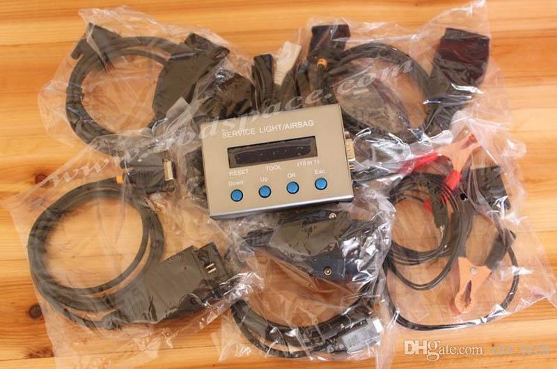 NEW 10 em 1 Airbag Reset Tool e Serviço óleo leve redefinir ferramenta para Multi-marca de correção quilometragem Automóveis