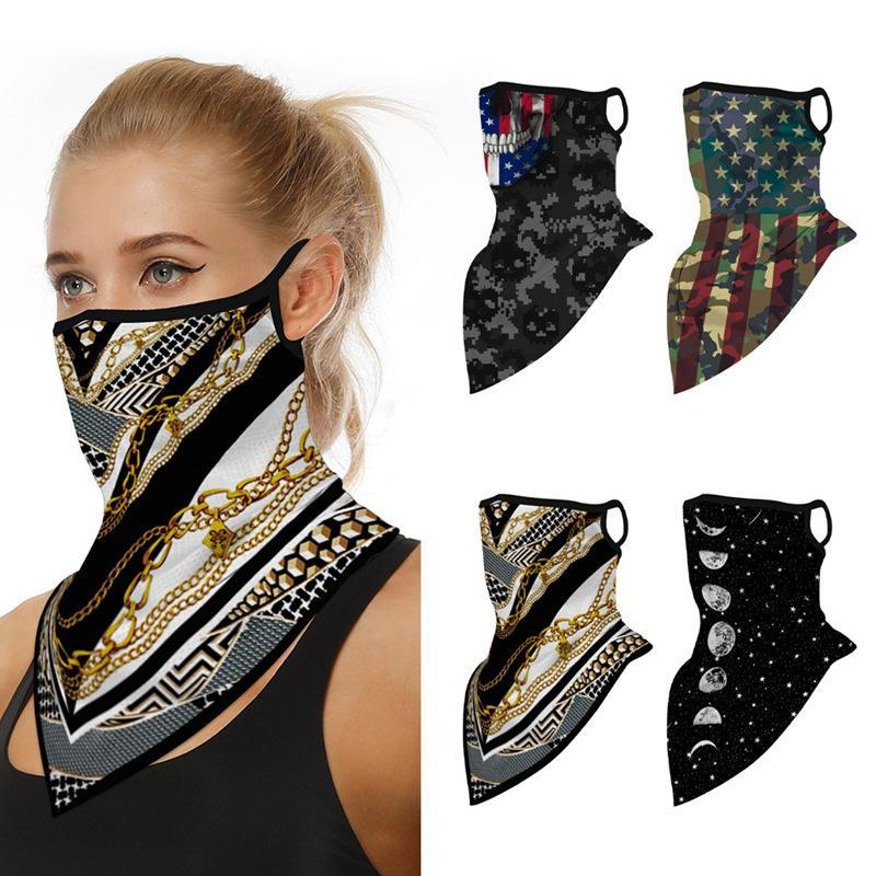 Bicicleta de la bici de la mascarilla contra el polvo Bragas-UV cubierta de la cara Protección mujeres de los hombres de la motocicleta de la máscara del pañuelo con elasticos