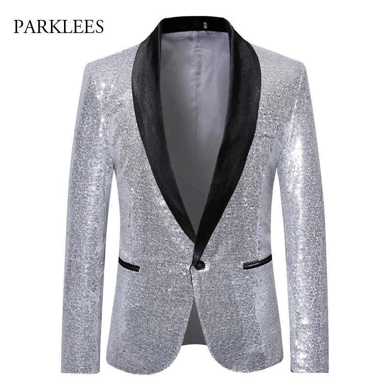 Women Sequins Shiny Casual Business Blazer Suit Jacket Outwear Formal Black Coat
