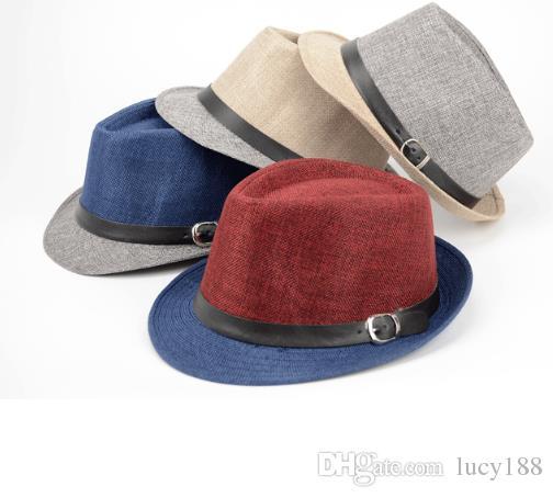 Chapéus de linho correspondência de cores da Inglaterra pouco chapéu Sir Beach chapéu de sol chapéu chapéu fabricantes que vendem homens e mulheres