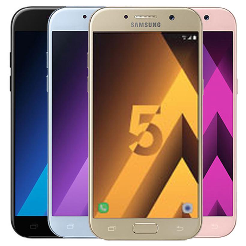 Original Samsung Galaxy A5 2017 Refurbished A520F 5.2 inch Octa Core 3GB RAM 32GB ROM 16MP 4G LTE Android Mobile Phone Free DHL 1pcs