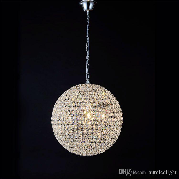 Indoor Crystal Pendant Light 15cm 20cm 25cm 30cm Crystal Light Living room/bedroom/dining room/hallway Lighting K9 Crystal Ball Pendant Lamp