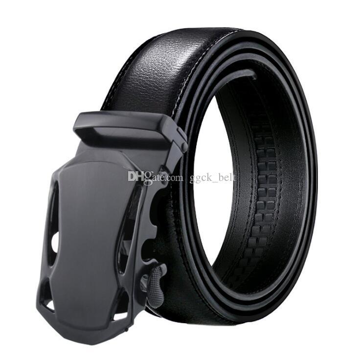 Cinturino da uomo automatico di moda di marca Cintura da uomo in vera pelle nera Cintura da uomo in pelle di mucca per uomo 3,5 cm di larghezza