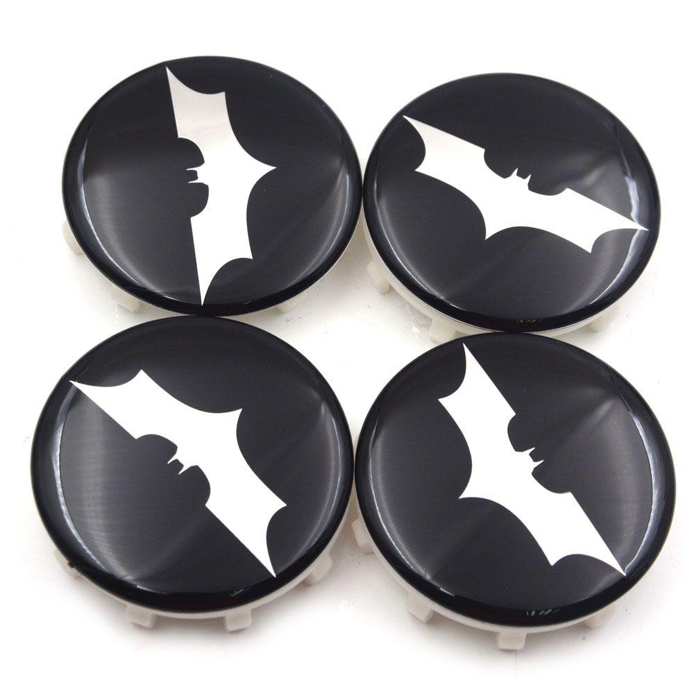 Hub Centre Cap Logo Badges Blue 60mm Batman Wheel Alloy Center Caps Set Of 4